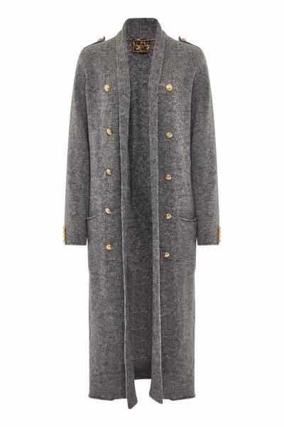 Military Cardigan Grey Panda Couture