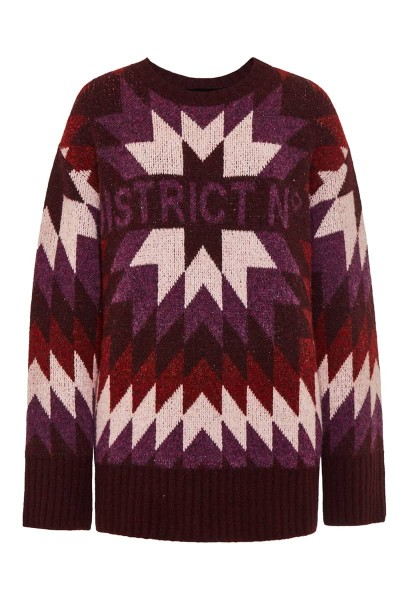 "Pullover ""District - Mexico"" Magenta"