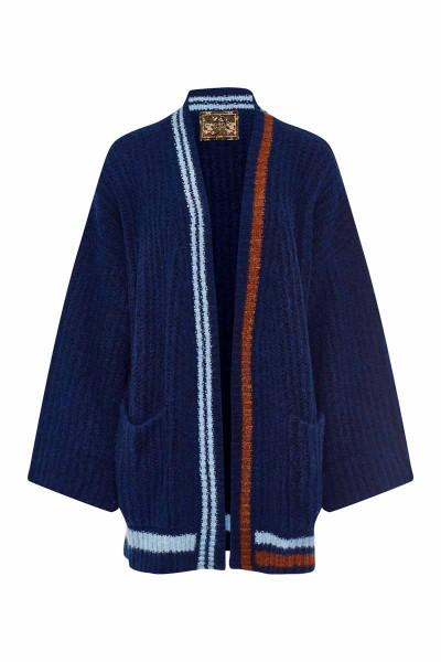 Oversized Short Cardigan Royal Blue Adler