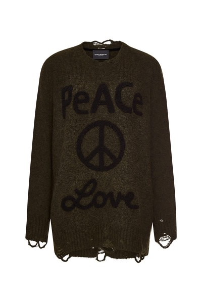 """Pullover """"Peace & Love"""" Military"""