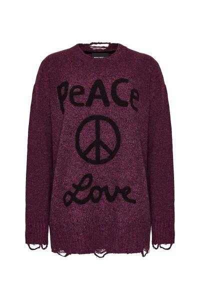 "Pullover ""Peace & Love"" Magenta"