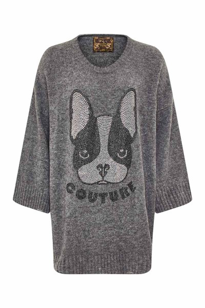 Over Destroyed Pullover Grey Bulldog Couture