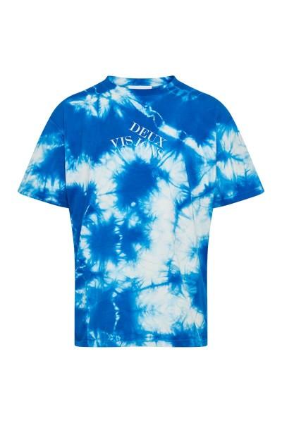 """T-Shirt Batik Blue """"Logo Asymmetrisch"""""""