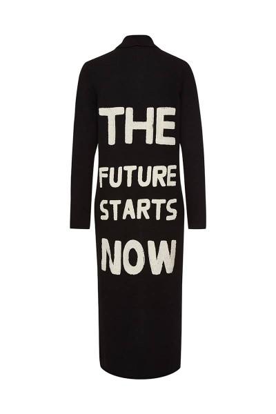 "Cardigan ""The Future Starts Now"" Black"