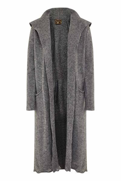 Long Destroyed Cardigan Grey Panda Couture