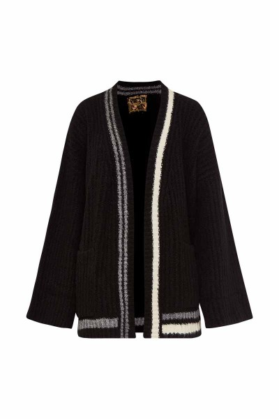 Oversized Short Cardigan Black Bulldog Couture